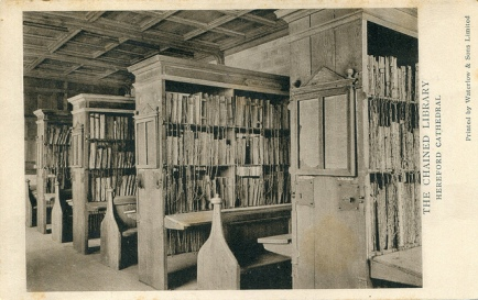 pellethepoet,The Chained Library. Hereford Cathedral (undated)