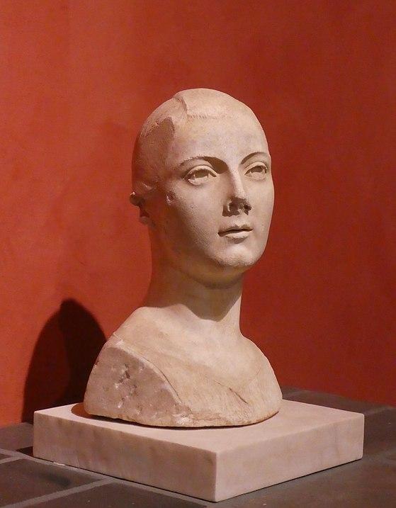 ritratto di fanciulla da Vulci. Marmo bianco circa 50-40 a.C.